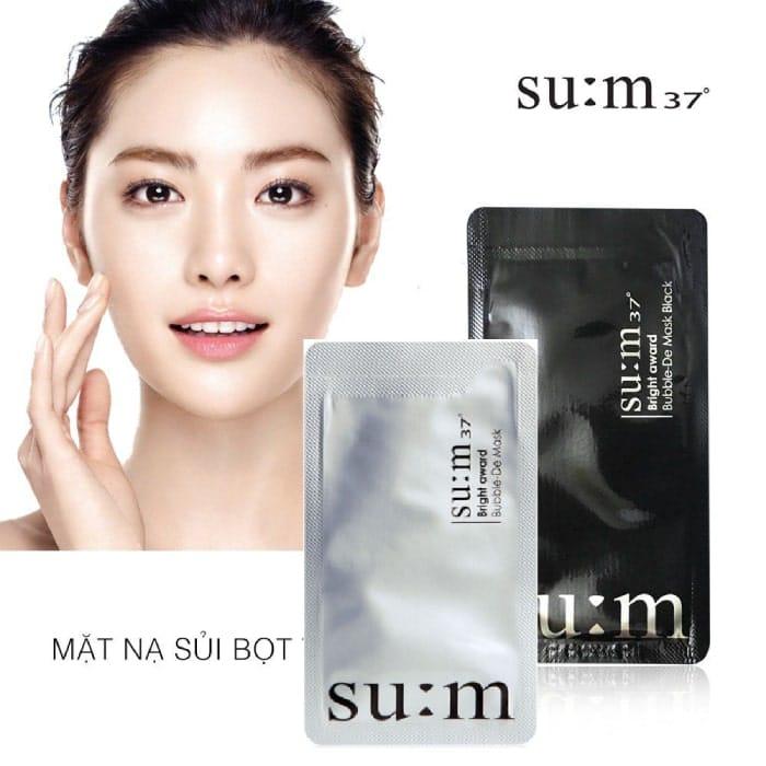 Mặt nạ thải độc Sum 37 Bright Award Bubble De Mask Hàn Quốc - Mỹ Phẩm Hàn  Quốc
