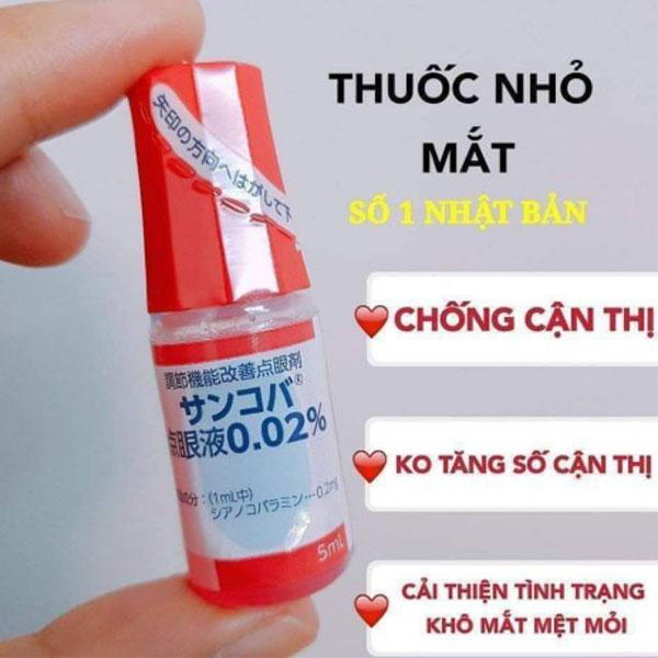 Thuốc Nhỏ Mắt Sancoba 5ml Nhật Bản   Mỹ Phẩm Hàn Quốc Chính Hãng
